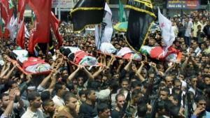 تشييع جثامين شهداء الانتفاضة الفلسطينية الثانية