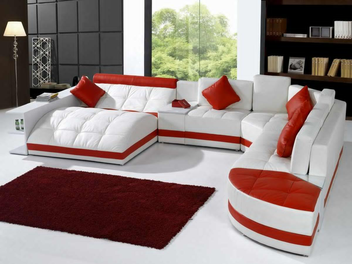 sofa-set-designs-for-living-room-red-and-white-themed-cozy-place-comfortable-maroon-fur-carpet-larger-window-clear-view-standing-lamp-elegance-luxurious-nice-atmosphere