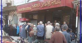 متى تنتهى هذه الاهانات … تكدس كبار السن أمام بنك ناصر الإجتماعى بدمياط