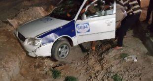 """إصابة سيدة اثر انقلاب سيارة علي طريق """"دمياط – بورسعيد"""""""