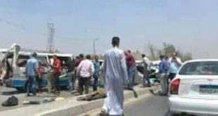 طريق الموت : بالاسماء إصابة ١٠ أشخاص في حادث انقلاب سيارة ميكروباص على طريق بورسعيد دمياط