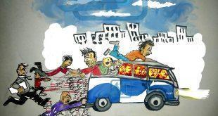 #كاريكاتير_نافذة_دمياط : حال المواصلات بدمياط ومشاكلها كل صباح ومساء