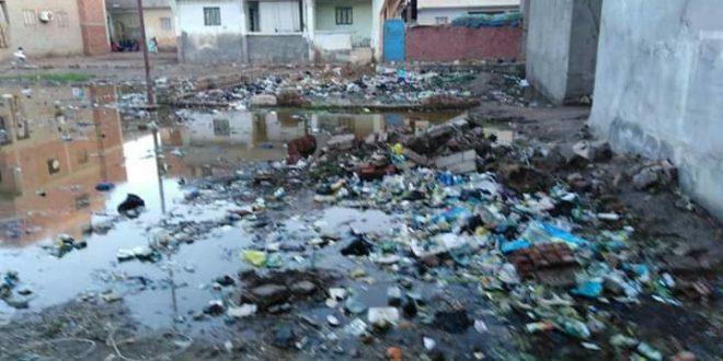 الوسطانى تغلى بسبب انتشار القمامة ومستنقعات مياه الامطار