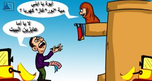 كاريكاتير نافذة دمياط : بلد الجباية وهدم بيوت المصريين