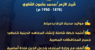 الإمام محمد مأمون الشناوي .. ابن محافظة دمياط