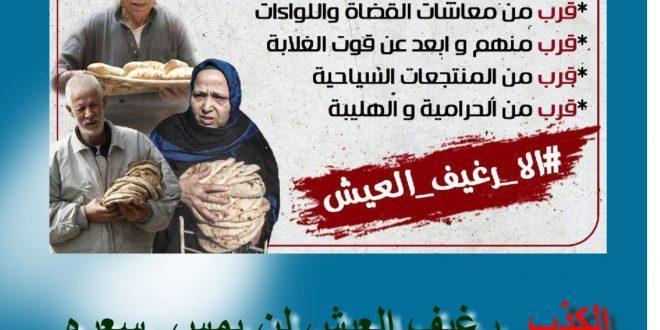 """رحلة رغيف """"العيش"""" من مرسي إلى السيسي (صور وفيديو)"""